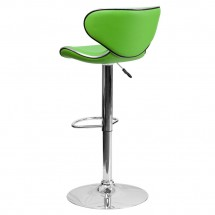 Flash Furniture DS-815-GRN-GG Contemporary Cozy Mid-Back Green Vinyl Adjustable Height Bar Stool addl-1