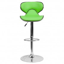 Flash Furniture DS-815-GRN-GG Contemporary Cozy Mid-Back Green Vinyl Adjustable Height Bar Stool addl-2