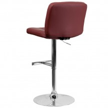 Flash Furniture DS-829-BURG-GG Contemporary Tufted Burgundy Vinyl Adjustable Height Bar Stool addl-1