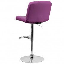 Flash Furniture DS-829-PUR-GG Contemporary Tufted Purple Vinyl Adjustable Height Bar Stool addl-1