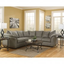 Flash Furniture FSD-1109SEC-COB-GG Signature Design by Ashley Darcy Sectional in Cobblestone Fabric addl-3