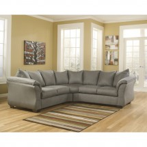 Flash Furniture FSD-1109SEC-COB-GG Signature Design by Ashley Darcy Sectional in Cobblestone Fabric addl-2