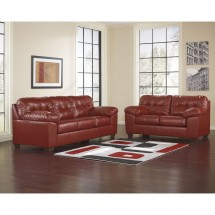 Flash Furniture FSD-2399SET-RED-GG Signature Design by Ashley Alliston Living Room Set in Salsa DuraBlend addl-3