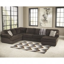 Flash Furniture FSD-6049SEC-CHO-GG Signature Design by Ashley Jessa Place Sectional in Chocolate Fabric addl-2