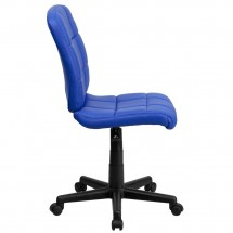 Flash Furniture GO-1691-1-BLUE-GG Blue Mid-Back Quilted Vinyl Task Chair addl-1
