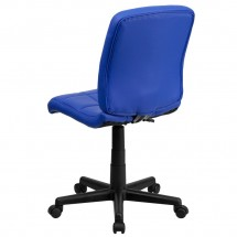 Flash Furniture GO-1691-1-BLUE-GG Blue Mid-Back Quilted Vinyl Task Chair addl-2