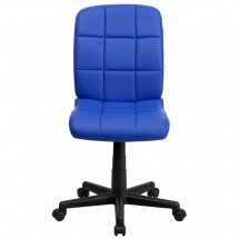 Flash Furniture GO-1691-1-BLUE-GG Blue Mid-Back Quilted Vinyl Task Chair addl-3