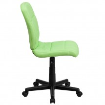Flash Furniture GO-1691-1-GREEN-GG Green Mid-Back Quilted Vinyl Task Chair addl-1