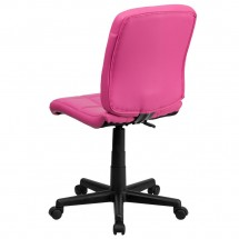 Flash Furniture GO-1691-1-PINK-GG Pink Mid-Back Quilted Vinyl Task Chair addl-2