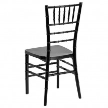Flash Furniture LE-BLACK-GG Flash Elegance Black Resin Stacking Chiavari Chair addl-1