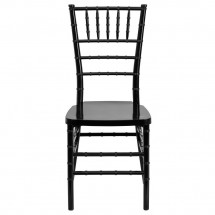 Flash Furniture LE-BLACK-GG Flash Elegance Black Resin Stacking Chiavari Chair addl-2