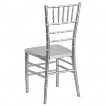 Flash Furniture LE-SILVER-GG Flash Elegance Silver Resin Stacking Chiavari Chair addl-1