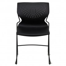 Flash Furniture RUT-438-BK-GG HERCULES Series 661 Lb. Capacity Black Full Back Stack Chair with Black Frame addl-2