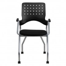 Flash Furniture WL-A224V-A-GG Galaxy Mobile Nesting Chair with Arms and Black Fabric Seat addl-2