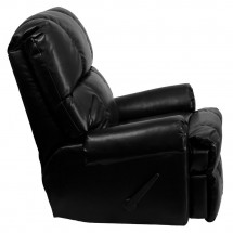 Flash Furniture WM-8700-622-GG Contemporary Black Ty Leather Rocker Recliner addl-4