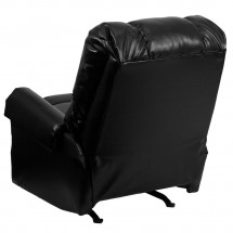 Flash Furniture WM-8700-622-GG Contemporary Black Ty Leather Rocker Recliner addl-1