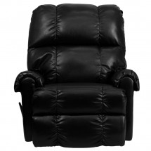 Flash Furniture WM-8700-622-GG Contemporary Black Ty Leather Rocker Recliner addl-2