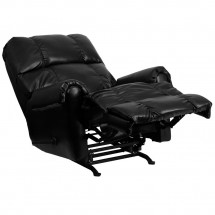 Flash Furniture WM-8700-622-GG Contemporary Black Ty Leather Rocker Recliner addl-5