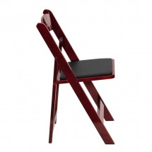 Flash Furniture XF-2903-MAH-WOOD-GG HERCULES Series Mahogany Wood Folding Chair with Vinyl Padded Seat addl-4
