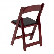Flash Furniture XF-2903-MAH-WOOD-GG HERCULES Series Mahogany Wood Folding Chair with Vinyl Padded Seat addl-1