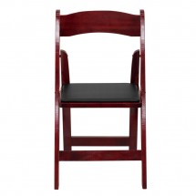 Flash Furniture XF-2903-MAH-WOOD-GG HERCULES Series Mahogany Wood Folding Chair with Vinyl Padded Seat addl-2