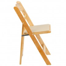 Flash Furniture XF-2903-NAT-WOOD-GG HERCULES Series Natural Wood Folding Chair with Vinyl Padded Seat addl-4