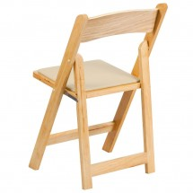 Flash Furniture XF-2903-NAT-WOOD-GG HERCULES Series Natural Wood Folding Chair with Vinyl Padded Seat addl-1