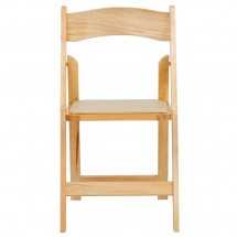 Flash Furniture XF-2903-NAT-WOOD-GG HERCULES Series Natural Wood Folding Chair with Vinyl Padded Seat addl-2