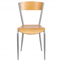 Flash Furniture XU-DG-60217-NAT-GG Invincible Series Metal Restaurant Chair with Natural Wood Back and Seat addl-2