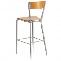 Flash Furniture XU-DG-60218-NAT-GG Invincible Series Metal Restaurant Barstool with Natural Wood Back and Seat addl-1