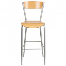Flash Furniture XU-DG-60218-NAT-GG Invincible Series Metal Restaurant Barstool with Natural Wood Back and Seat addl-2