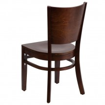 Flash Furniture XU-DG-W0094B-WAL-WAL-GG Lacey Series Solid Back Walnut Wooden Restaurant Chair addl-1