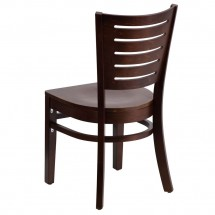 Flash Furniture XU-DG-W0108-WAL-WAL-GG Darby Series Slat Back Walnut Wooden Restaurant Chair addl-1