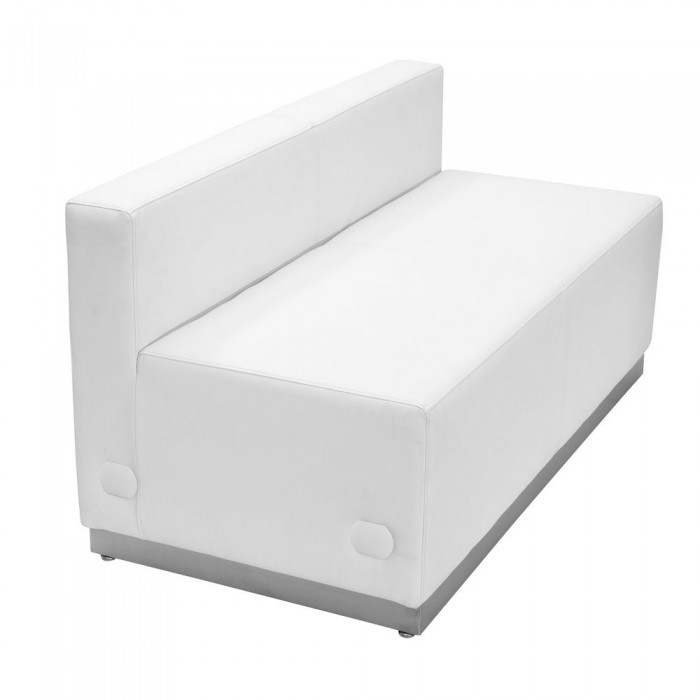 Astonishing Flash Furniture Zb 803 Ls Wh Gg Hercules Alon Series White Home Interior And Landscaping Ologienasavecom