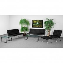 Flash Furniture ZB-FLASH-801-SET-BK-GG HERCULES Flash Series Black Reception Set addl-3