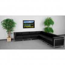 Flash Furniture ZB-IMAG-SECT-SET1-GG HERCULES Imagination Series Black Leather Sectional Configuration, 7 Piece addl-3