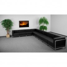Flash Furniture ZB-IMAG-SECT-SET3-GG HERCULES Imagination Series Black Leather Sectional Configuration, 9 Piece addl-3