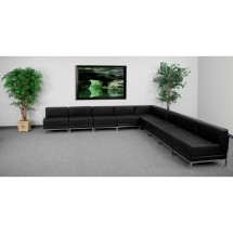 Flash Furniture ZB-IMAG-SECT-SET7-GG HERCULES Imagination Series Black Leather Sectional Configuration, 9 Piece addl-3