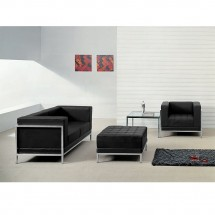 Flash Furniture ZB-IMAG-SET11-GG HERCULES Imagination Series Black Leather Loveseat, Chair and Ottoman Set addl-3