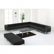 Flash Furniture ZB-IMAG-SET18-GG HERCULES Imagination Series Black Leather Sectional and Ottoman Set, 12 Piece addl-3