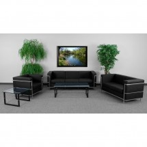 Flash Furniture ZB-REGAL-810-SET-BK-GG HERCULES Regal Series Black Reception Set addl-3