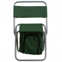 Flash Furniture TY1262-GN-GG Green Folding Camping Chair with Insulated Storage addl-3