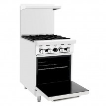 Atosa ATO-4B 24 Gas Range with (4) Open Burners and Single 20 Oven addl-1