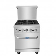 Atosa ATO-4B 24 Gas Range with (4) Open Burners and Single 20 Oven addl-6