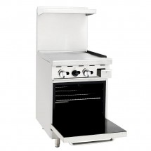 Atosa ATO-24G 24 Gas Range with 24 Griddle and Single 20 Oven addl-1