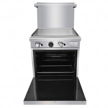 Atosa ATO-24G 24 Gas Range with 24 Griddle and Single 20 Oven addl-2