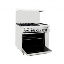 Atosa ATO-4B12G 36 Gas Range with (4) Open Burners and 12 Right Side Griddle, 26 1/2 Oven addl-1