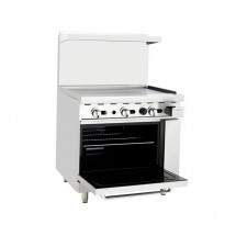 Atosa ATO-36G 36 Gas Range with 36 Griddle and (1) 26 1/2 Oven addl-1