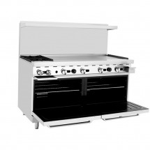 Atosa ATO-2B48G 60 Gas Range with (2) Open Burners and 48 Right Side Griddle, (2) 26 1/2 Ovens addl-1