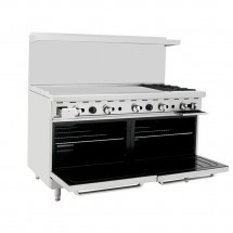 Atosa ATO-48G2B 36 Gas Range with (2) Open Burners and 48 Left Side Griddle, (2) 26 1/2 Ovens addl-1